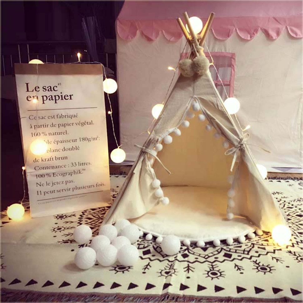 Pure White Cotton Ball LED AC US Plug USB Battery Powered String Lights for Fairy Party  ...