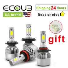 H7 LED H4 LED Car Headlight Bulb S2 H1 H3 H11 9005 Hb3 9006 Hb4 H13 9007 Auto Fog Light 12V 24V 6500K For Car Lamp Turbo Kit(China)