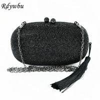 Wholesale Rdywbu New Arriva Wedding Bag 2017 Handmade High Quality Hot Drill Tassel Diamond Rhinestone