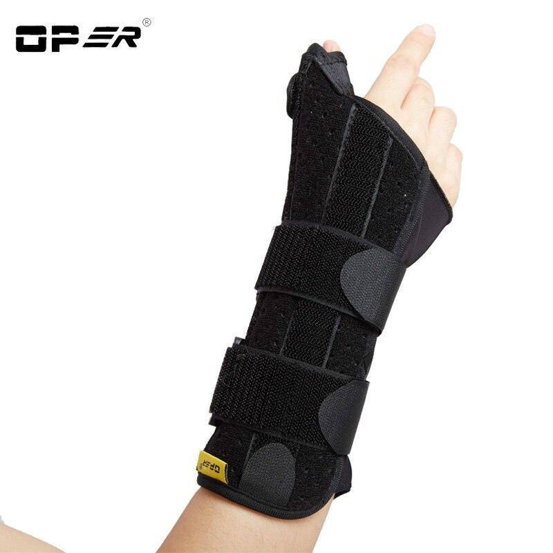 OPER New Finger Splint Wrist Thumb fixation Brace Support Wristbands orthosis Stabilizer Brace 3 Aluminum Splint Inside Scaphoid