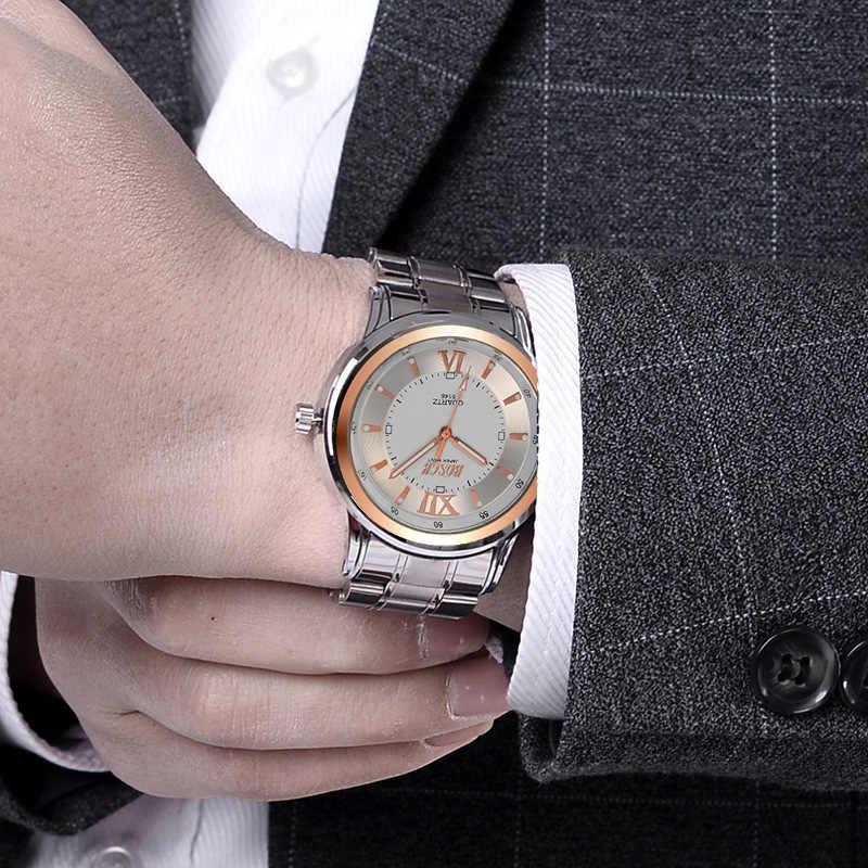 BOSCK hommes montres armée militaire Top marque de luxe sport décontracté étanche hommes montre Quartz acier inoxydable homme montres