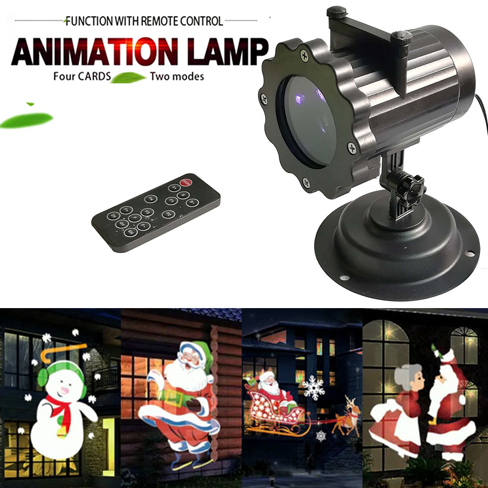Christmas Light Projector Waterproof Decorations Outdoor LED Light Cartoon Projector Lamp for Landscape Garden Holiday Party J2Y