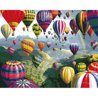 Home Decor Hot Air Balloon Frameless Picture On Wall Acrylic Oil Painting By Numbers Abstract Drawing