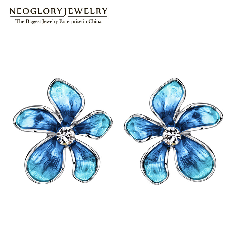 Neoglory Austria Rhinestone Imitation Enamel Colorful Flowers Stud Earrings For Women Fashion Jewelry 2018 New книга тора пятикнижие и гафтарот
