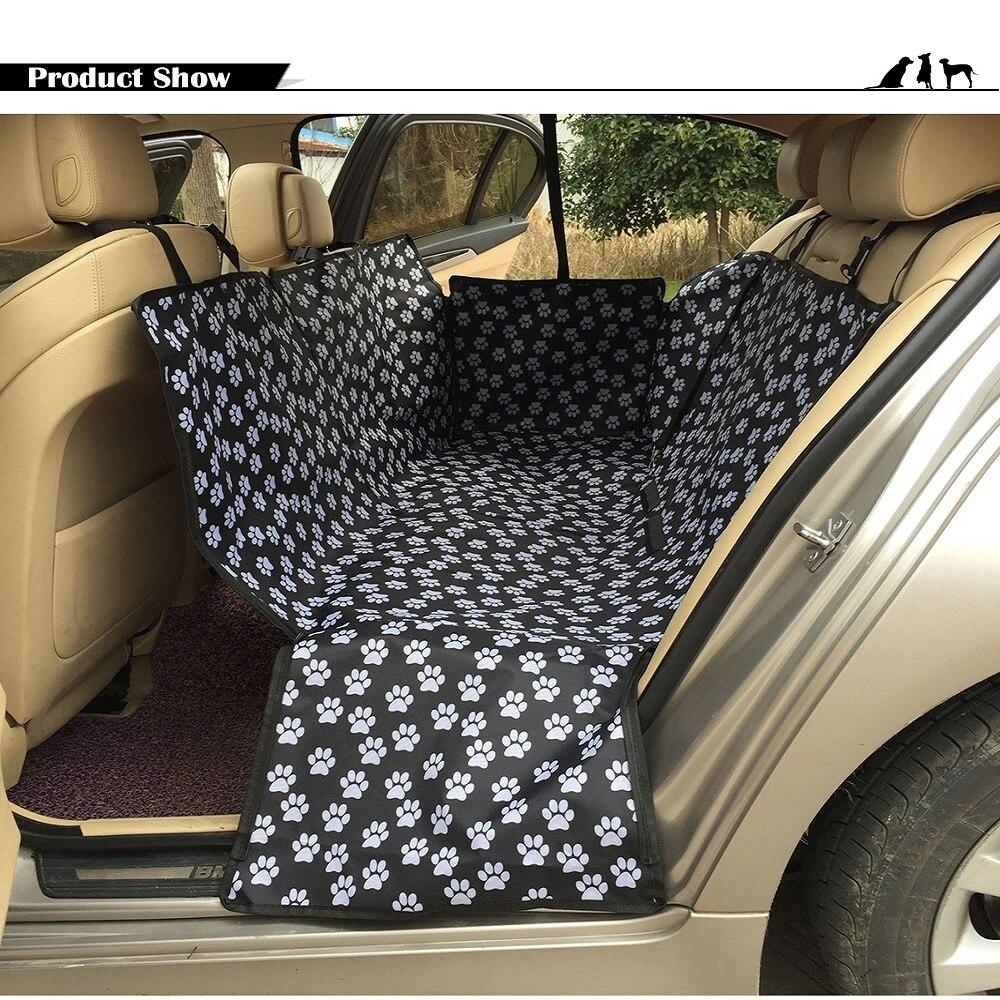 Pliable Étanche Pet Car Seat Couvre Empreinte Motif Oxford Tissu Chien Siège Arrière De Voiture Accessoires Intérieurs Tapis Animaux Chien