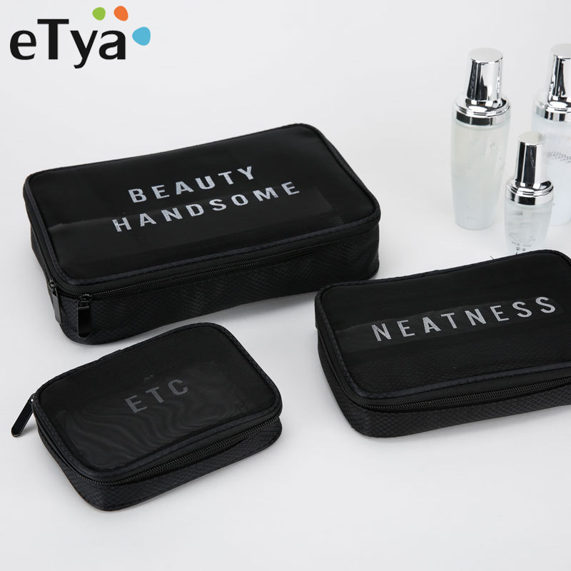 ETya Brand Cosmetic Bags Women Makeup Case Travel Organizer Professional Storage Brush Necessaries Cosmetics Beauty Toiletry Bag