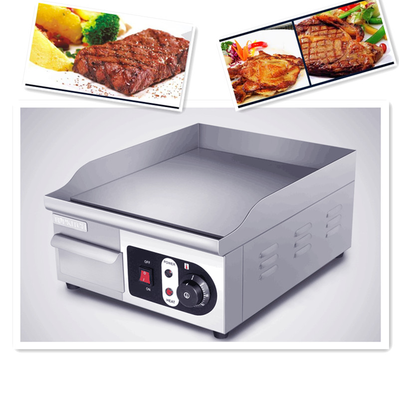 220V 1pcs Stainless Steel Commercial Electric Grill Griddle Electric Food Oven Chicken Roster Desktop Grill Steak Machine 4set lot original emax mt2216 810kv plus thread brushless motor 2 cw 2 ccw for multirotor quadcopters with 1045 propeller