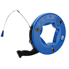 Fish Tape Puller 4mm*30m Cable Fiberglass Fish Tape Reel Puller Nylon Metal Wall Wire Conduit For Heavy Duty Wire Pulls