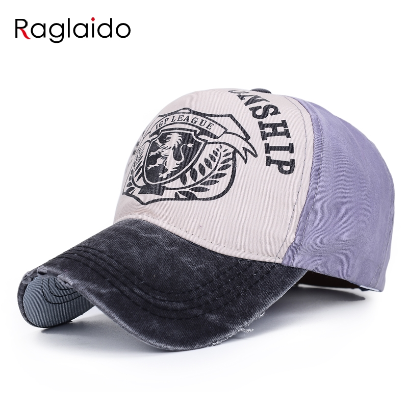 different style baseball caps font letter printed patchwork cotton mens fashion vintage
