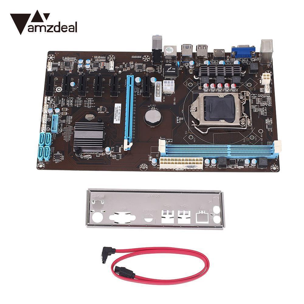Amzdeal placa principal del ordenador profesión B85 BTC minería placa base Rig ethereum H81 actualización 7 GPU minería máquina BTC LTC