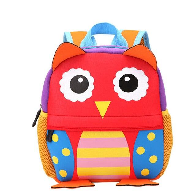 a7fb947ea2 Bambini 3D Animale Sveglio di Disegno Zaino Del Bambino Bambini Sacchetti  di Scuola per le Ragazze