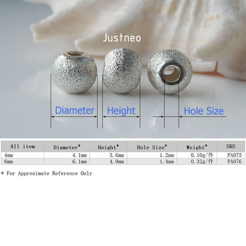 Solid 925 Sterling Argento stardust perle tonde con piatto bordi, componenti dei monili, commercio all'ingrosso