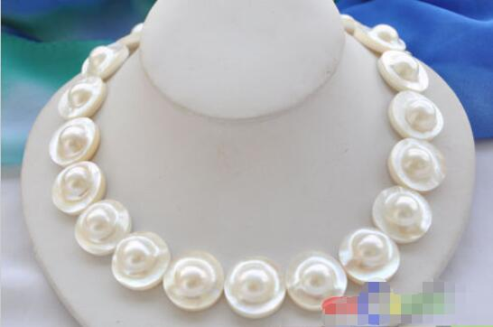 FREE SHIPPING>>>@@ > Hot sale new Style >>>>>PERFECT AAA++ 18 22mm WHITE ROUND SOUTH SEA MABE PEARL NECKLACEFREE SHIPPING>>>@@ > Hot sale new Style >>>>>PERFECT AAA++ 18 22mm WHITE ROUND SOUTH SEA MABE PEARL NECKLACE