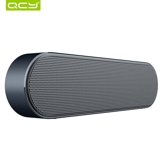 QCY B900 Bluetooth беспроводной динамик из металла портативный 3D стерео звук динамиков системы MP3 Музыка Поддержка аудио плеер AUX с микрофоном