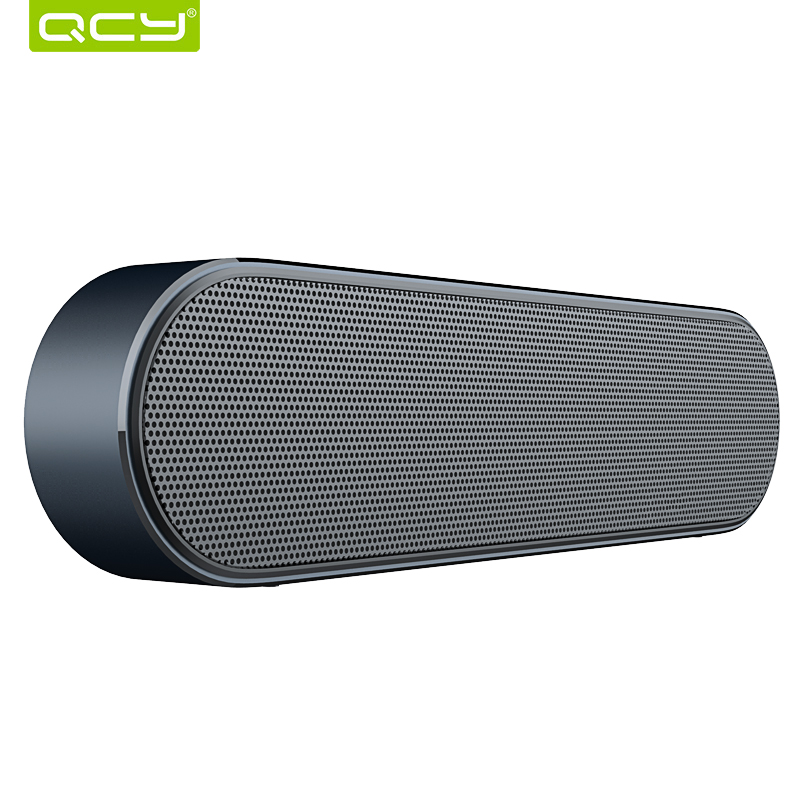 QCY B900 Bluetooth wireless speaker metal portable 3D stereo sound speakers system MP3 music audio player support AUX with MIC rotibox mini soundbar ultra compact portable mutimedia wireless stereo bluetooth speaker hifi powerful crystal sound with balacne audio deep bass cinema surround sound aux connection for outdoor sports play home audio