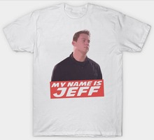 Summer T Shirt  O-Neck Short Sleeve Print Mens Funny 22 Jump Street My Name Is Jeff Tee