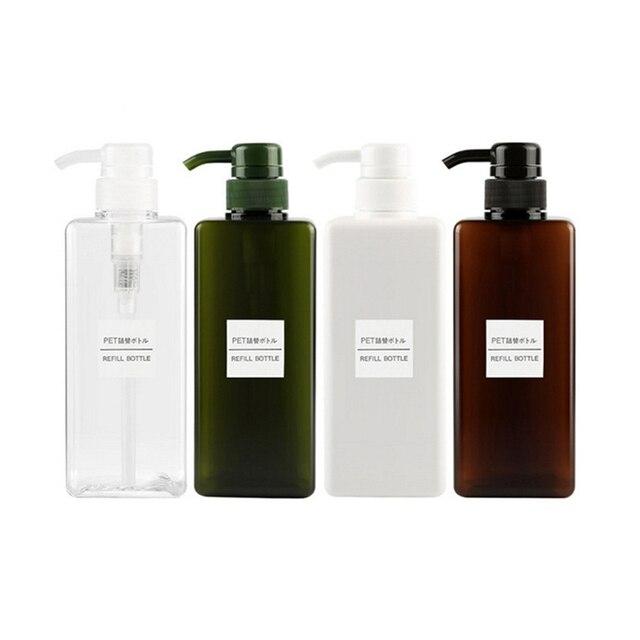 650ml פלסטיק ריק משאבת Dispenser בקבוק שיער יופי שמפו קרם מקלחת ג ל בקבוק למילוי חוזרים נסיעות מיכל