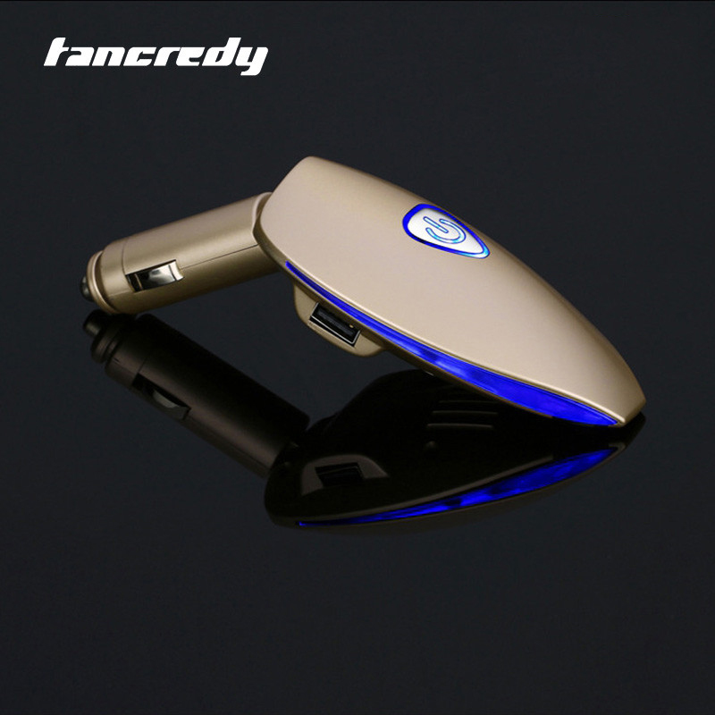 Tancredy Car Auto Air Purifier Cleaner 12V Smoke anion purifier Fresh Car Air Ionizer Oxygen Bar Dual USB Car Charger Universal