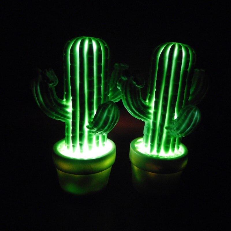 Luzes da Noite cactus verde dos desenhos animados Material do Corpo : Plástico