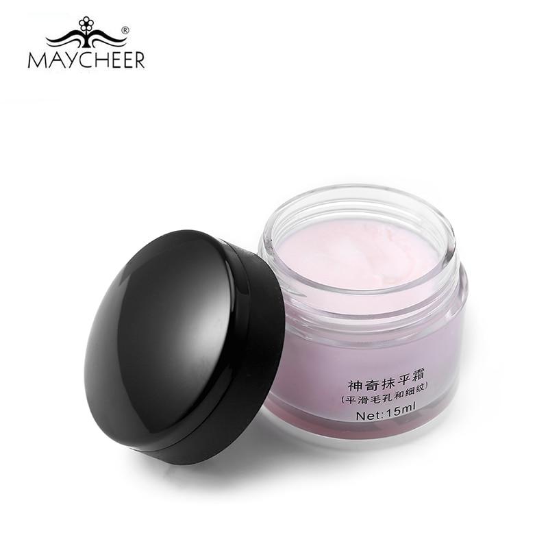 Marca nueva MAYCHEER transformar alisando la cara Primer corrector Base de maquillaje cubierta poro arrugas duradera corrector Fundación Base