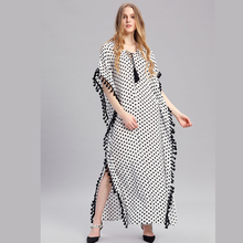 Plus Size Women Summer African Ethnic Print Kaftan Maxi Dress Summer Loose Vintage Boho Beach Long Dress