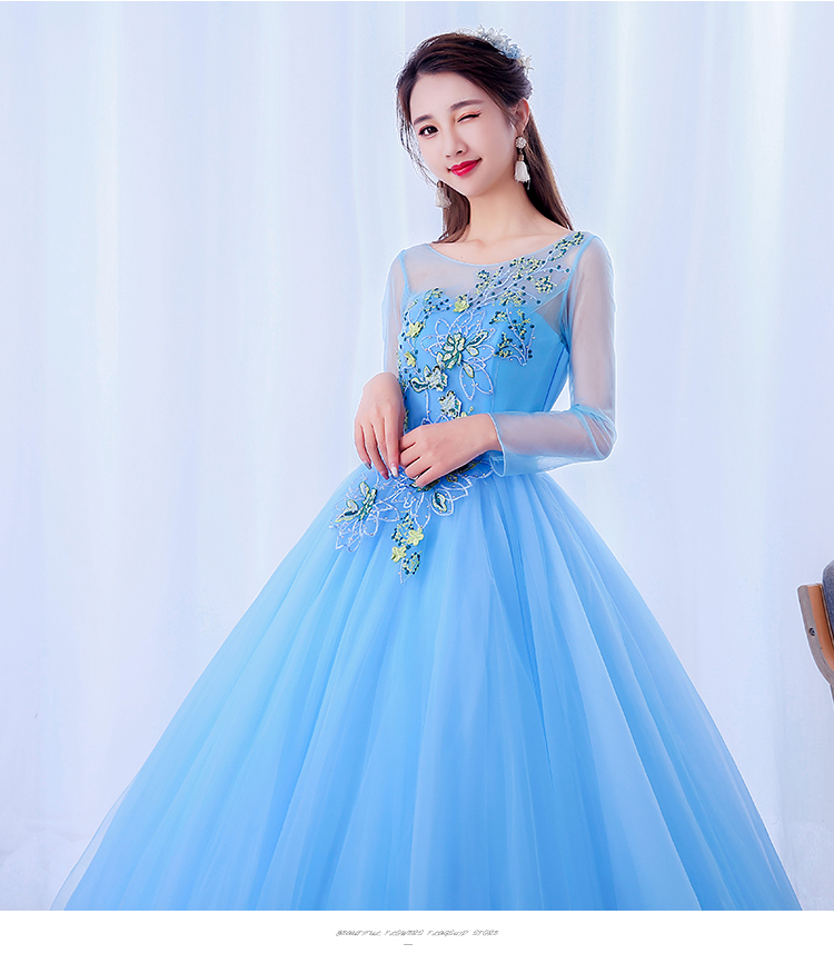 Beautiful colorful tulle embroidery Fairy style Prom dresses Evening ...