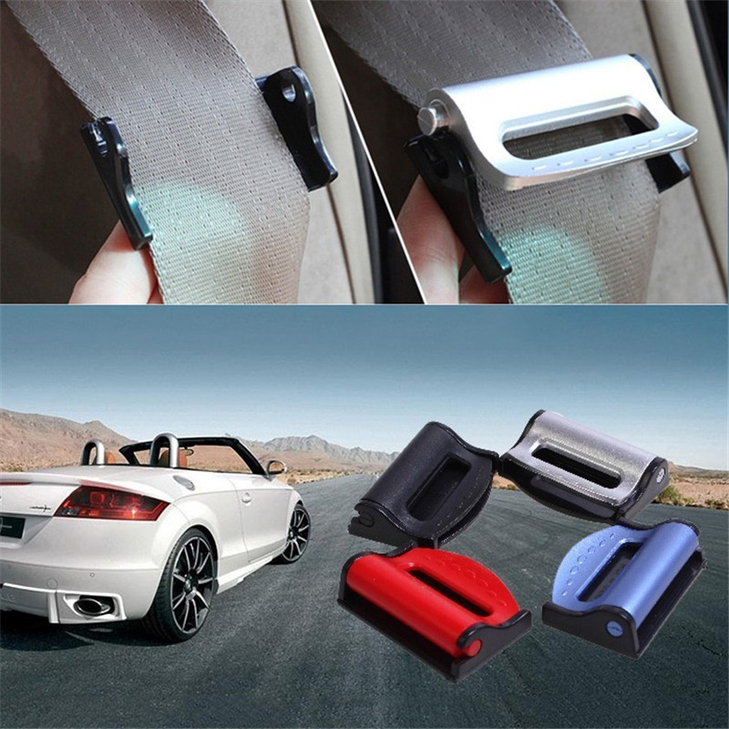 Car Seat Belt Clip Safety Belt Clips Buckle Stopper Auto Vehicles Universal stylish crown universal stainless steel seat belt buckle latches pair