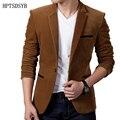 Блейзер Мужчины 2017 Мужская Мода Бренд 3 Pockets In A Solid Color Мужской Однобортный Одной Кнопки Терно Masculino 3XL PPQUW