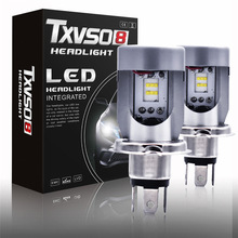 TXVSO8 2PCS car headlight bulbs 6000K led h4 Kits CSP Chips luces para auto 7200LM 50W/Bulb Auto Headlamp 12V Fog lights