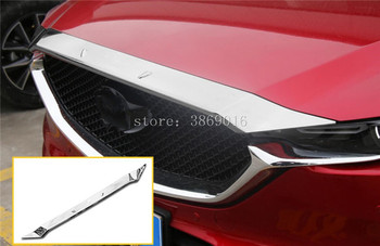 ABS Chrome Widening Front Grille Grill Engine Hood Sticker Cover Trim Molding Car Styling For Mazda CX-5 CX5 MK2 2017 2018
