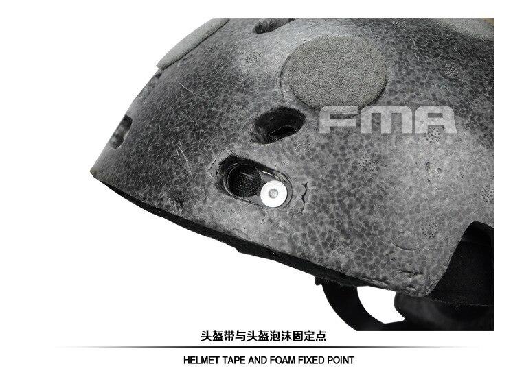 FMA Helmet Suspension System + Senior Memory Sponge + Helmet Foam TB1050-BK fma maritime helmet aor1 seal a desert camouflage tb1180