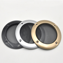 For 2″ inch Car Audio Tweeter Speaker Conversion Net Cover Decorative Circle Metal Mesh Grille Protection Black/Silver/Golden