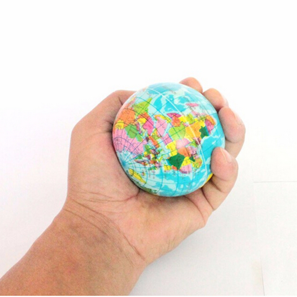 World Map Foam Earth Educational Toy Anti Stress Earth Ball Soft Sponge Squeeze Toys Autism Mood Relief Healthy Toys For Kids