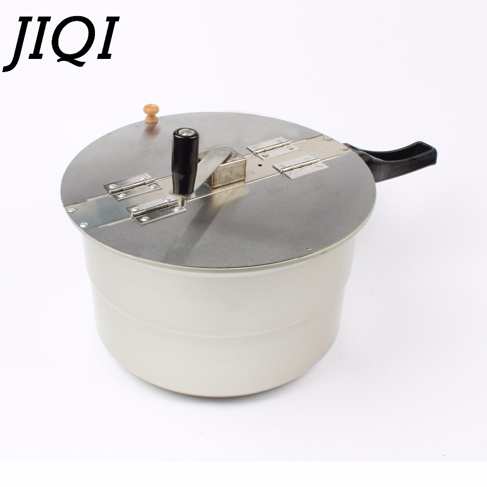 JIQI gas stove hot air popcorn machine hand-cranked single pot popcorn maker pot Commercial home use manual corn Pressure cooker pop 08 commercial electric popcorn machine popcorn maker for coffee shop popcorn making machine