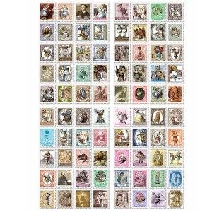 Image 4 - 30 팩/많은 새로운 DIY 빈티지 앨리스 스탬프 종이 스티커 세트 당 4 시트 참고 스티커 장식 라벨 학생 diy 일기 스티커