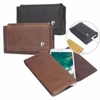 Original Pierre Cardin For Apple iPhone 7 8 6 6s Plus Case Holster Belt Clip Luxury Genuine Leather Phone Cases Bag Magnet Cover