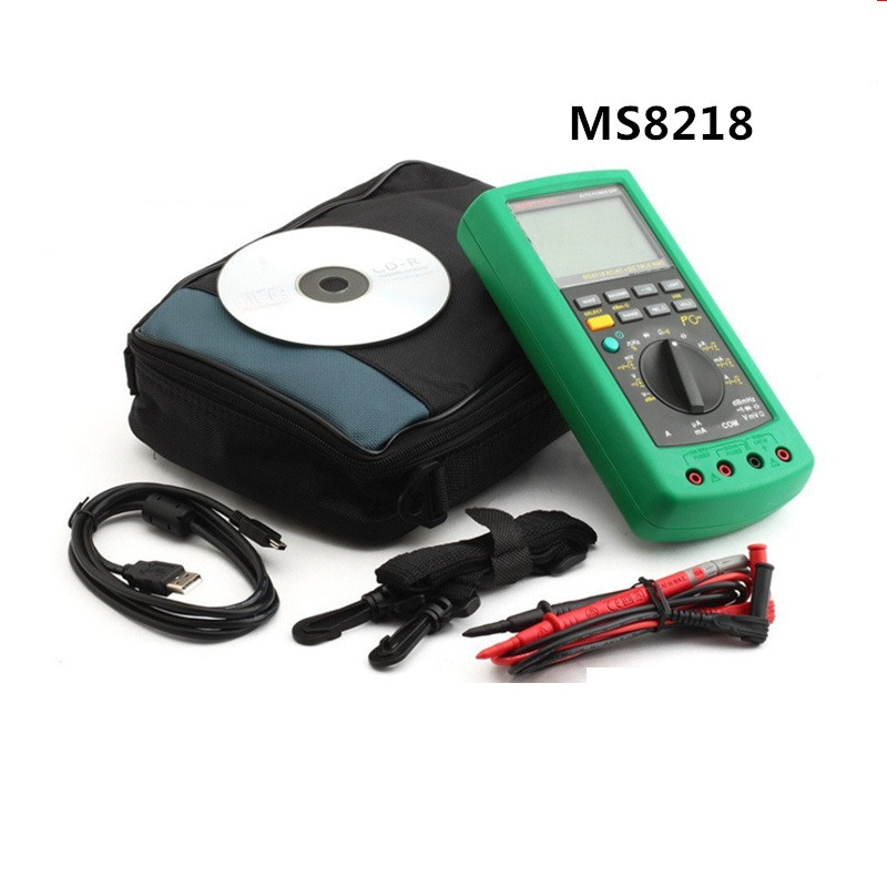 MASTECH MS8218 Digital Multimeter 50000 Counts multifunction True RMS PC USB DMM 5 1/2 Bit auto range tester Ammeter Multitester digital multimeter mastech ms8264 dmm temperature capacitance tester multimeter handheld ammeter multitester