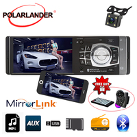 HD 4.1'' Mirror Link For Android 1 din 8 languages MP3/MP4 Player free shipping FM/USB/TF/EQ Radio Stereo Bluetooth Car