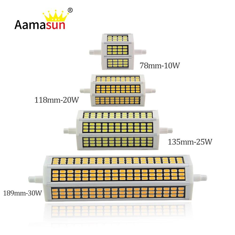 10 Вт 20 Вт 25 Вт 30 Вт R7S Светодиодная лампа 78 мм, 118 мм, 135 мм, 189 мм 220 В SMD5730 светодиодные лампочки R7S J118 J78 трубки заменить галогенные прожектора