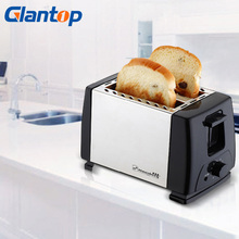 Glantop 220V Stainless Steel Household Toaster Breakfast 2 Pieces Bread Toasting Machine Fully Electric Toasters LD0020