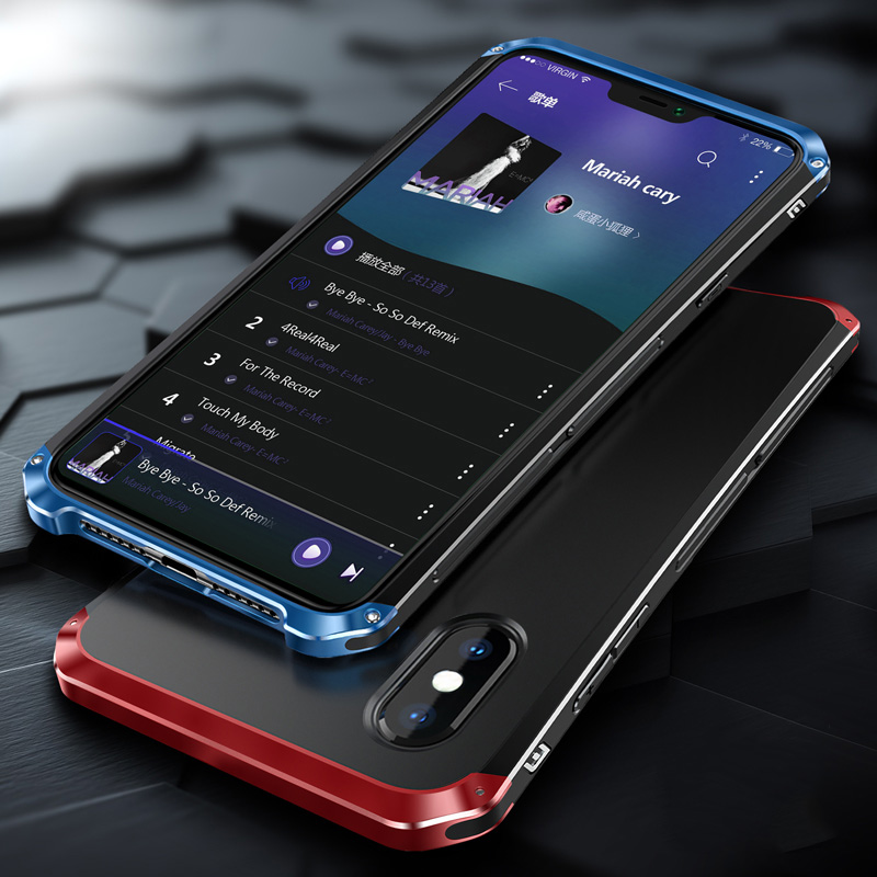 Luxury Armor Metal Aluminum+PC Heavy Duty Phone Protect Funda Coque Cover For IPhone X XS MAX 8 6 6S 7 Plus 5S SE XR Case