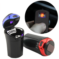 Encell Luminous Multifunction Car Ashtray Smokeless Auto Cigarette Lighter Ash Holder With Blue Led For Car