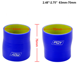 """Image 4 - BLUE & Yellow 2"""" 2.5 2 3 2.48 2.75 2.48 3 2.75 3 3 4 SILICONE HOSE STRAIGHT REDUCER JOINER COUPLING"""