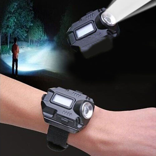 Hot And Fashion! R2 Rechargeable LED Flashlight Waterproof Wrist Watch Lamp Outdoor