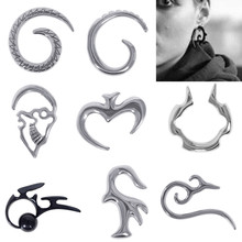 1 Pc Hot Punk Steel Spiral Thread Gauge Ear Plugs Fake Stretcher Cheater Flesh Expansion Puncture Earrings Piercing Jewelry