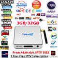 Italia iptv iptv Caja Francés DDR4 KB2 Pro 3G/32G S912 Android 6.0 TV BOX HD Smart tv Box + 1 Año europa server 1150 + Canales de Canal