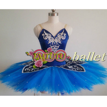 1f828df9081a0 Blue Bird Variation Professional Ballet Tutus Women Adult Stage Costume  Solo Ballerina Competition Ballet Pancake Tutu