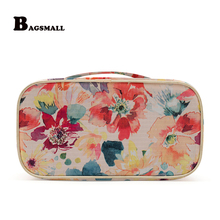 BAGSMALL 2017 Women Cosmetic Bag Travel Kits Wash Pouch Toiletry Bag Makeup Case For Make Up Organizer Storage Chisme Viajes