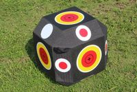 Archery bow and arrow shooting game 38*38*38cm XPE solid Polyhedron colorful Target Shooting practice cubic dice 3D target