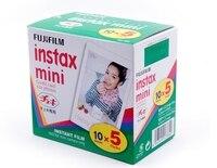 50 листов оригинальная пленка Fujifilm Fuji Instax Mini белый 3 дюймов для Polaoird mini 7 7 s 8 10 20 25 50 s 50i SP1 dw